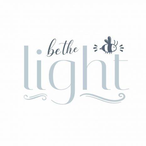 Be the light - white bg-1000px